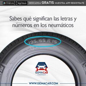 como interpretar las medidas de los neumáticos