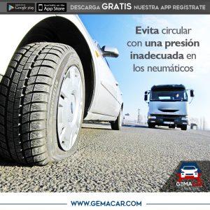 presión de los neumáticos