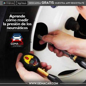 como medir la presión de los neumáticos