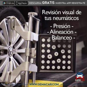 revisión visual neumáticos